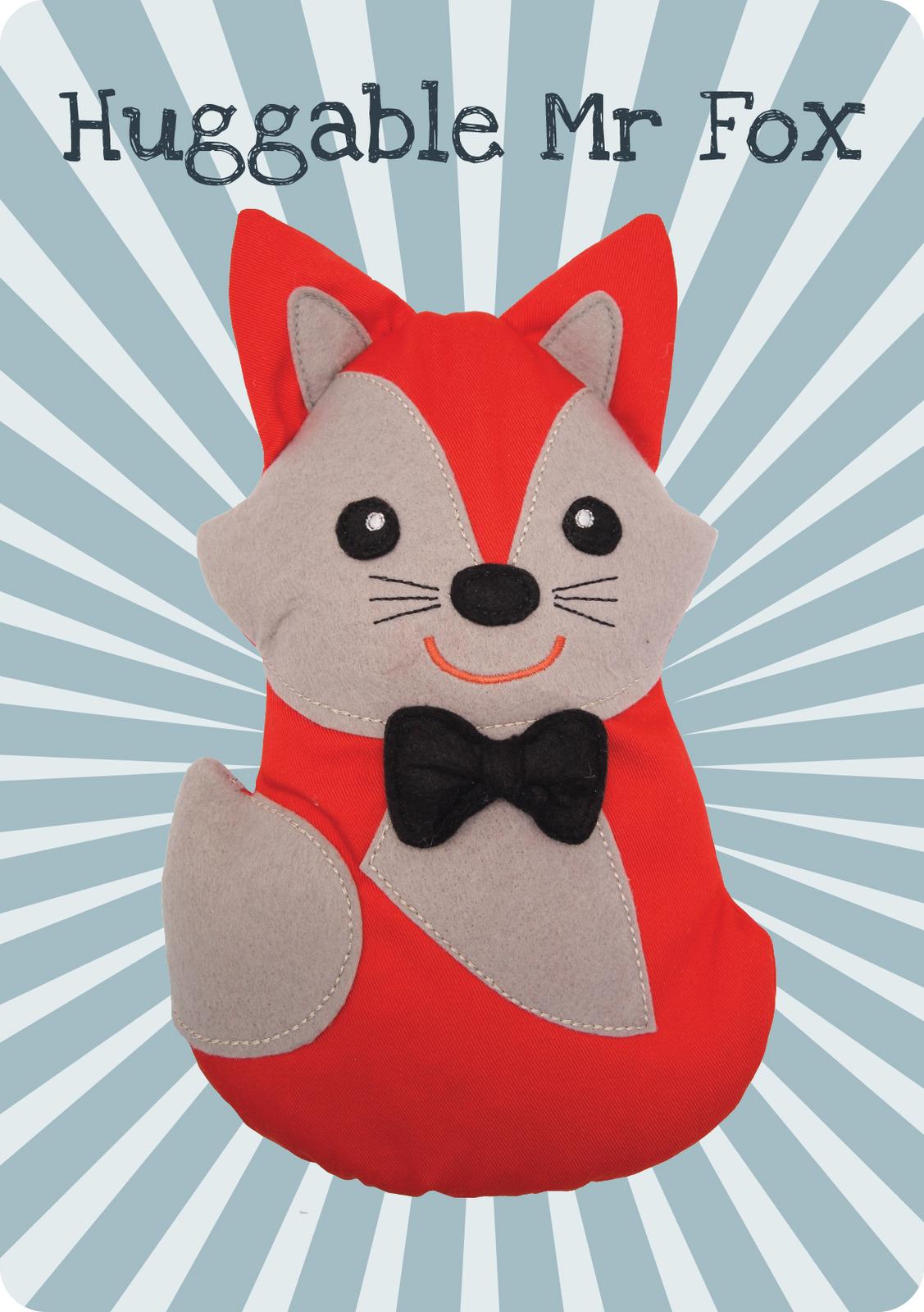 Huggable Fox. Wärmekissen für die Mikrowelle.
