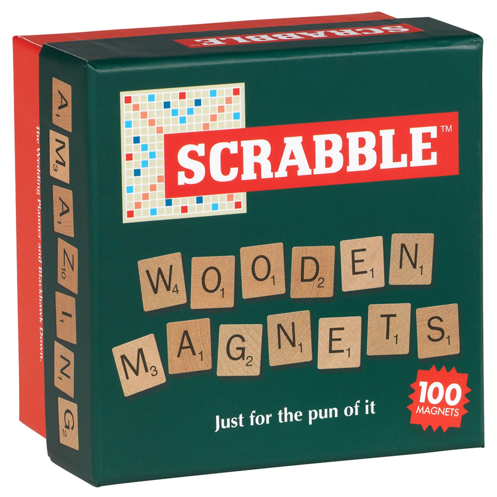 scrabble magnet set mit 100 buchstaben aus holz letztes st ck. Black Bedroom Furniture Sets. Home Design Ideas