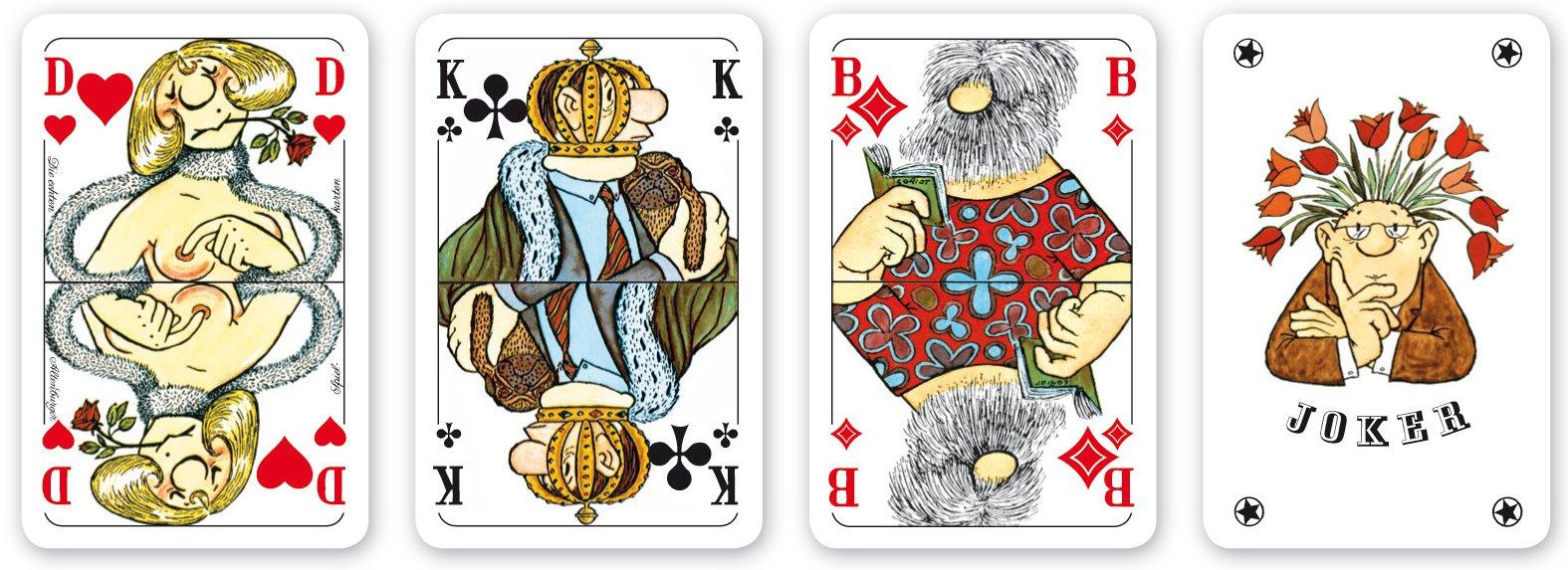 spiel die sch nsten kartenspiele der welt mit karten von loriot 2 x 52 blatt plus 6 joker. Black Bedroom Furniture Sets. Home Design Ideas