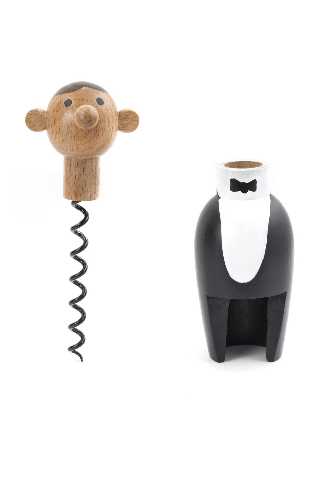 korkenzieher gentleman at your service corkscrew aus holz. Black Bedroom Furniture Sets. Home Design Ideas