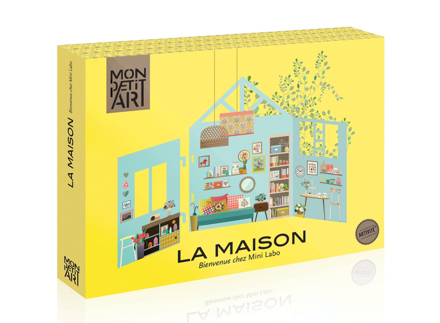 puppenhaus aus karton das sich immer wieder neu gestalten l sst. Black Bedroom Furniture Sets. Home Design Ideas