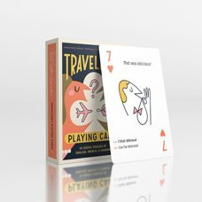 Spiel* Traveller's Playing Cards. 54 Cards with  useful Phrases in English, French & Spanish.