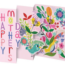 "Karte zum Ausziehen ""happy mother's day"""