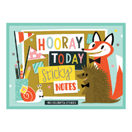 """Hooray Today"" Sticky Notes Set mit 480 Klebezettelchen"