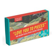 "Puzzle ""Love you to pieces"" mit Überraschungsbotschaft!"