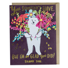 "Doppelkarte mit Couvert ""Glad you did thank you foil card"""