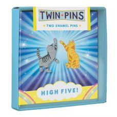 "Twin Pins ""High Five""*Set mit 2 Pins. Meaow!"