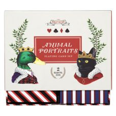 Spiel* Playing Card Set Animal Portraits. 2 Karten-Decks.