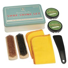 Gentlemen's Shoe Shine Set 7 teilig