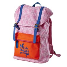"Rucksack in Neon-Pink ""oh, the places you'll go"""