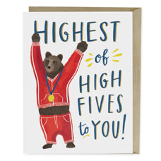 "Doppelkarte mit Couvert ""highest of high fives to you"""