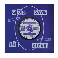 "Mikrofasertuch ""God Save The Clean"" Schallplatte"